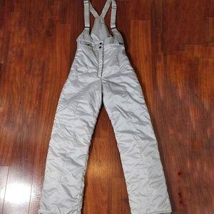 Aspen Powder Vintage Silver Overall Bibs Small